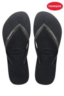 Havaianas Black Slim Glitter Ii Sandals