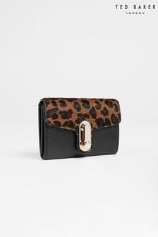 Ted Baker Naomils Leopard Detail Twist Lock Small Purse