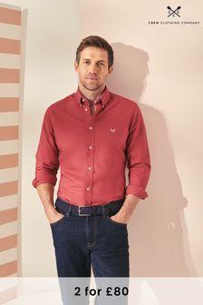 Crew Clothing Company Red Slim Oxford Shirt
