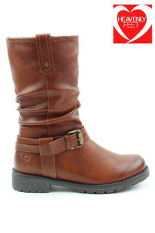 Heavenly Feet Ladies Style Indiana Mid Calf Boots