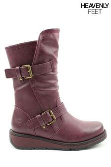 Heavenly Feet Ladies Style Hannah2 Mid Calf Boots