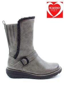 Heavenly Feet Ladies Style Biscay Low Calf Boots