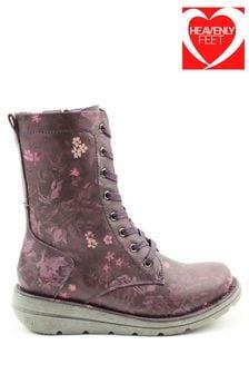 Heavenly Feet Ladies Martina3 Low Calf Boots
