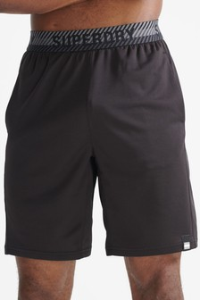 Superdry Black Train Relaxed Shorts