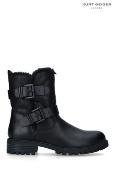 KG Kurt Geiger Black Vegan Snug3 Boots