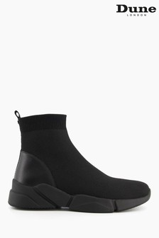 Dune London Black Event High Top Knitted Trainers