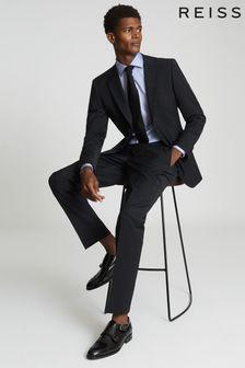 Reiss Black Hope Modern Fit Travel Trousers