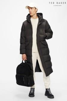 Ted Baker Black Superg Wadded Coat