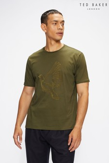 Ted Baker Green Halfpnt Ss Graphic T-Shirt