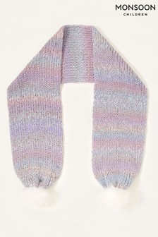 Monsoon Blue Nyla Space Dye Knitted Scarf