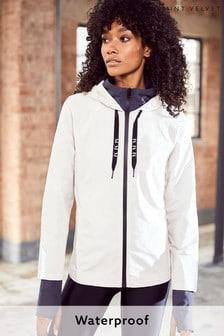 Mint Velvet Cream Off-White Waterproof Jacket