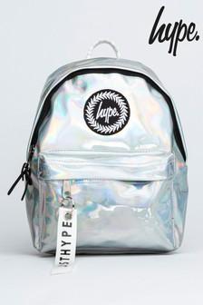 Hype. Silver Holo Mini Backpack
