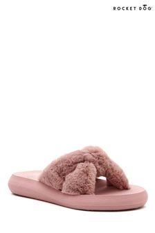 Rocket Dog Pink Slade Winette Fur Novelty Slippers
