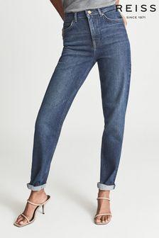 Reiss Bay High Rise Slim Straight Cut Jeans