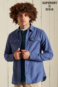 Superdry Blue Trailsman Moleskin Shirt