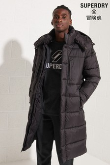 Black Superdry Black Touchline Padded Jacket
