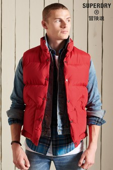 Red Superdry Red Mountain Gilet
