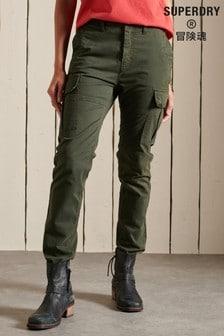 Superdry Green Organic Cotton Slim Cargo Pants