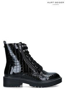 KG Kurt Geiger Black Jamie Boots