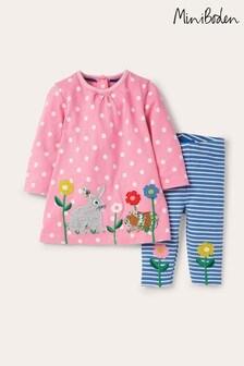 Boden Pink Big Appliqué Dress Set