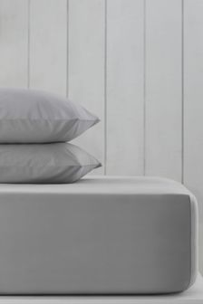Silver Grey Silver Grey Cotton Rich Extra Deep Fitted Sheet