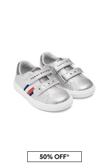 Tommy Hilfiger Girls Silver Trainers