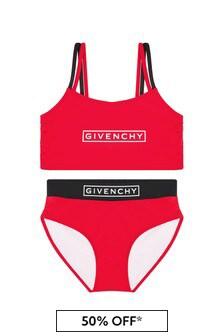 Givenchy 키즈 걸스 레드 비키니