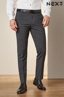 Grey Signature Tollegno Fabric Motion Flex Suit: Trousers