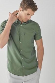 Khaki Easy Iron Button Down Oxford Shirt