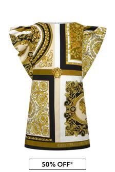 Versace White Cotton Dress