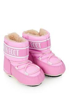 Moonboots Baby Girls Light Pink Crib Boots