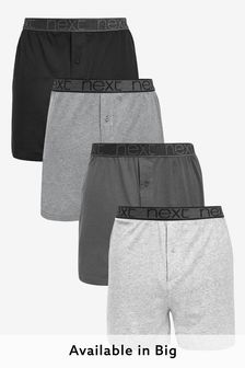Grey Loose Fit Pure Cotton Four Pack
