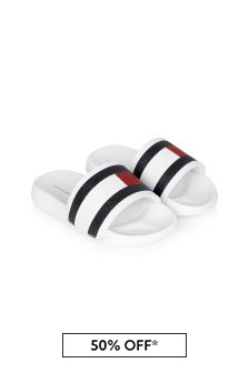 Tommy Hilfiger Kids White Sandals
