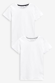 White Short Sleeve T-Shirts (3-16yrs)