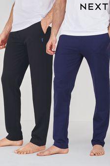 Black/Navy Open Hem Lightweight Loungewear