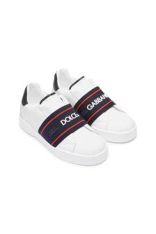 Dolce & Gabbana Kids Boys Leather Trainers
