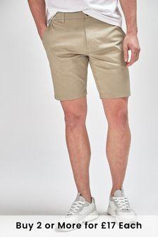 Wheat Stretch Chino Shorts