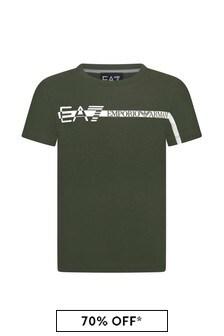 EA7 Emporio Armani Boys Navy Cotton T-Shirt