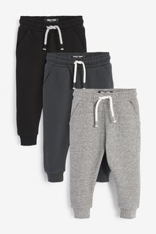 Monochrome 3 Pack Soft Touch Joggers (3mths-7yrs)
