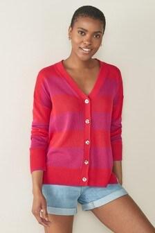 Pink Stripe Cardigan