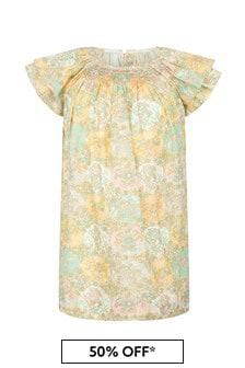 Bonpoint Girls Yellow Cotton Dress
