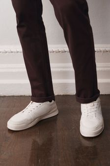 White Chunky Panel Trainers