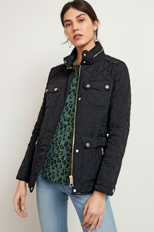 Black Quilted Short Jacket