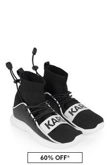Karl Lagerfeld Girls Black Sock Trainers