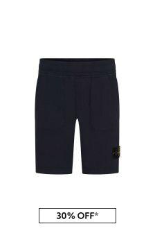 Stone Island Junior Boys Cotton Shorts