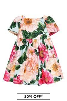 돌체 & 가바나 키즈 베이비 걸스 핑크 드레스