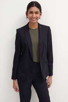 Navy Single Breasted Tailored Jacket