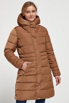 Camel Padded Coat