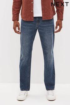 Vintage Wash Cotton Rigid Jeans