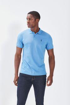 Cornflower Blue Pique Polo Shirt